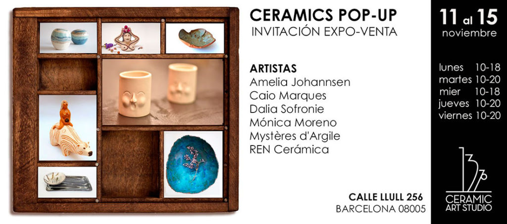 Pop Up de cerámica en 137º Ceramic Art Studio Barcelona